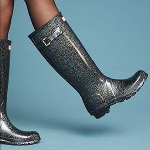 •HUNTER• rare! Starcloud shimmer tall rain boots